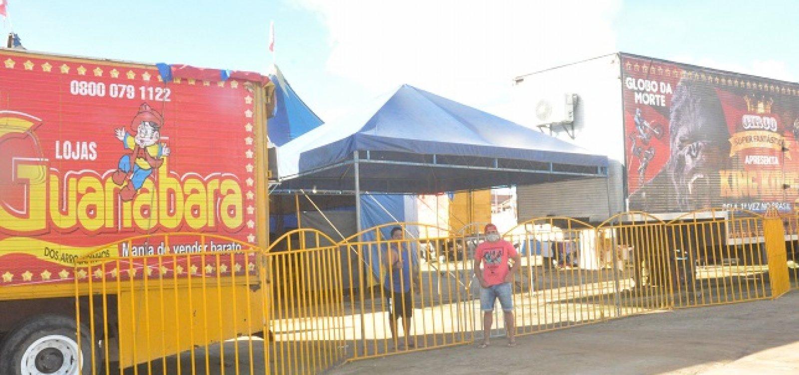 Jaguaquara: parados devido à pandemia, artistas de circo dependem de doações