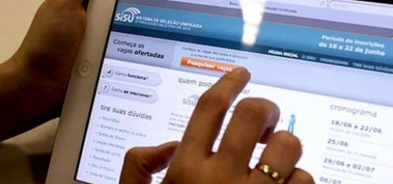 Sisu tem mais de 800 mil candidatos inscritos