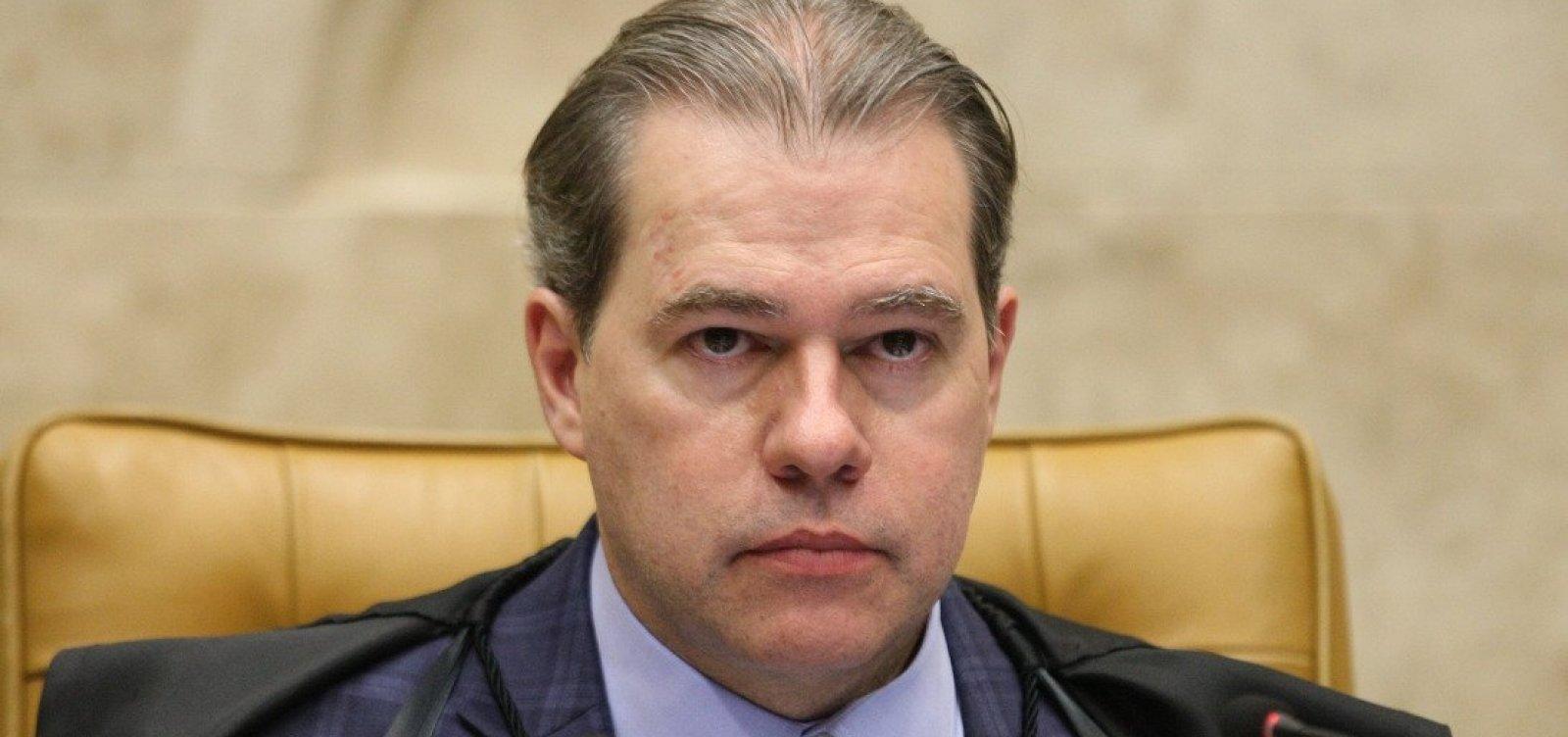 STF atua como 'editor' da sociedade no inquérito das fake news, diz Toffoli