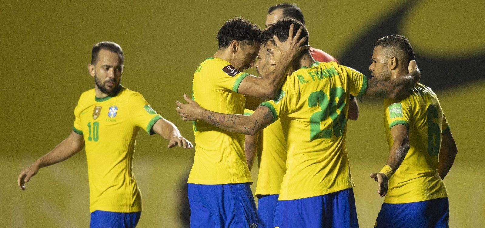 Em jogo morno, Brasil vence a Venezuela por 1 a 0